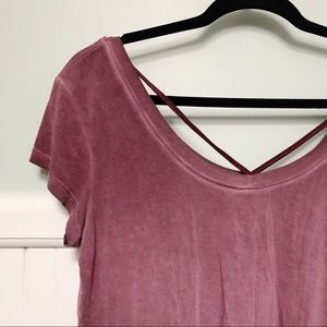 AE Soft and Sexy T, scoop-neck T-shirt stonewash